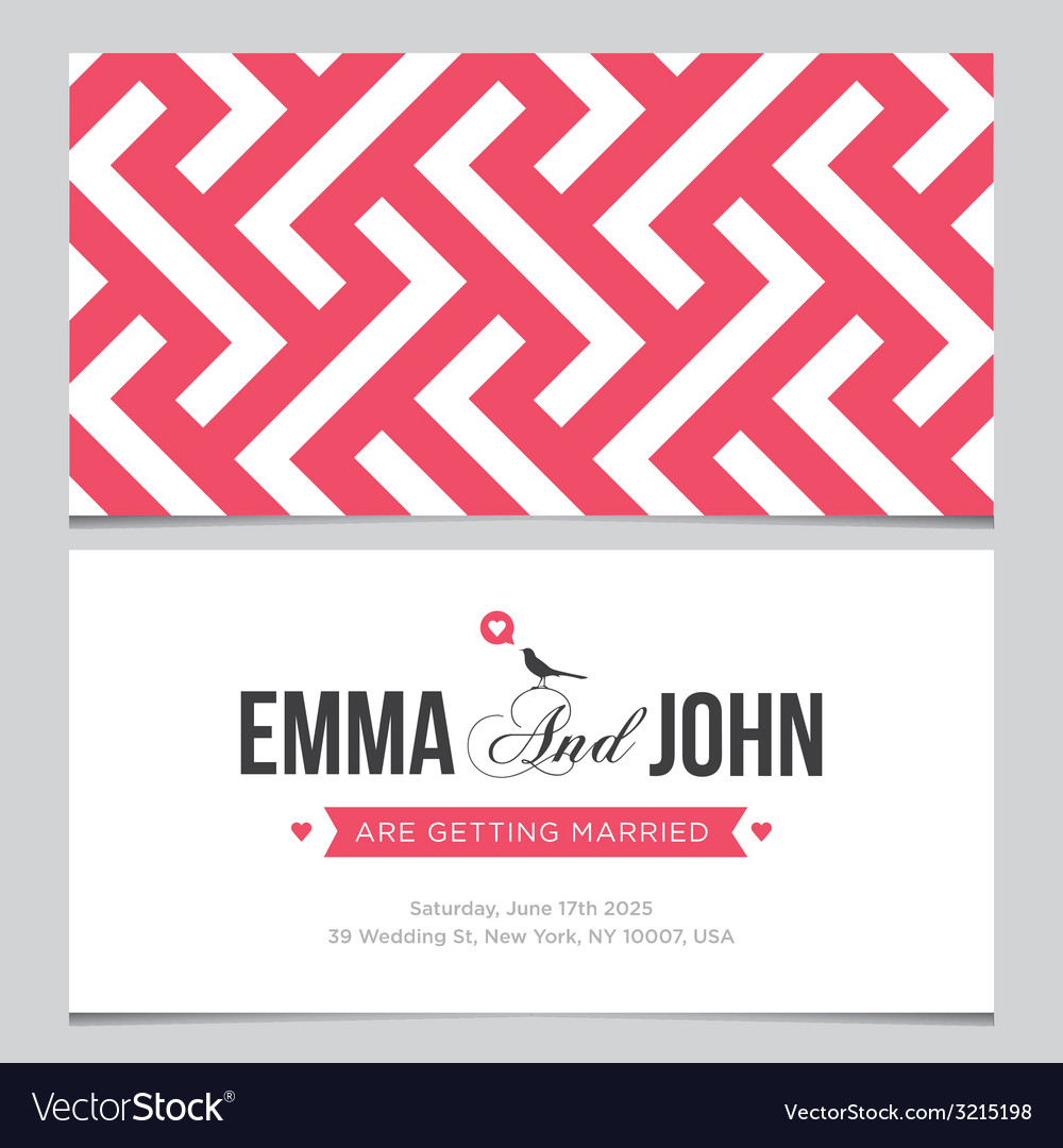 Wedding card pattern 02 vector image