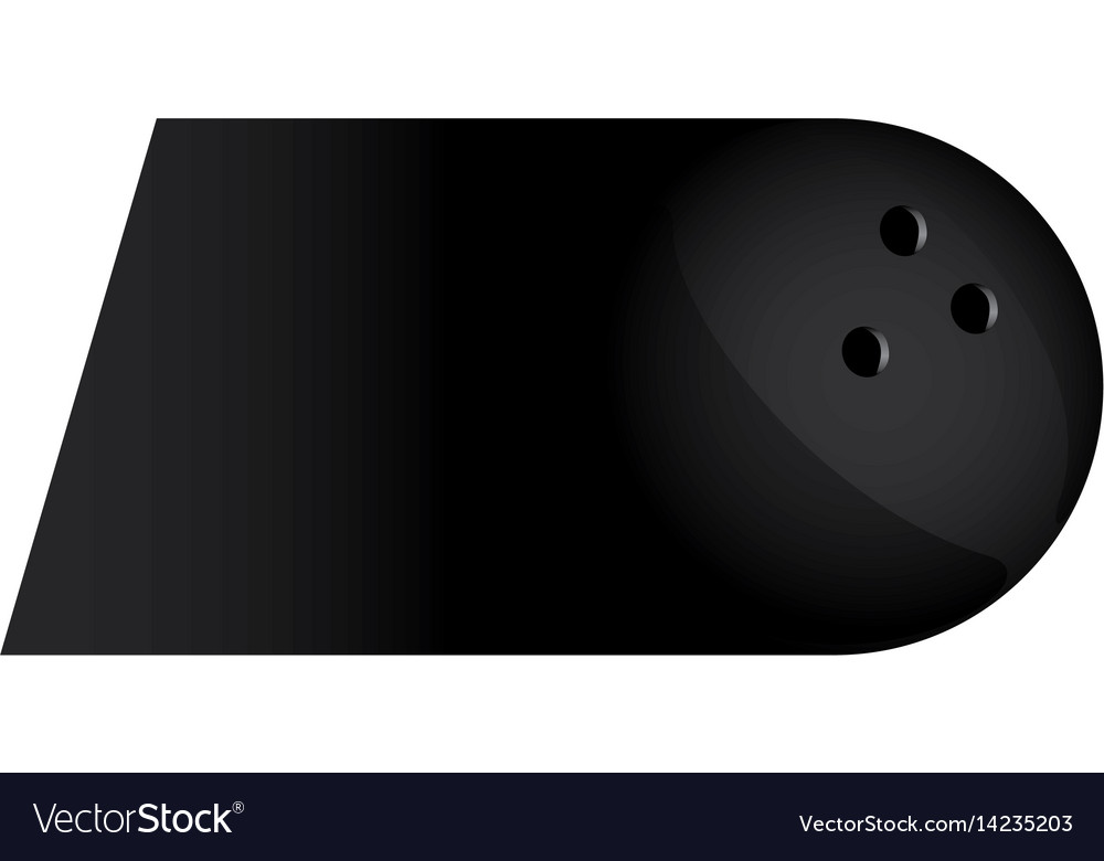 Colorful background of fast moving bowling ball vector image