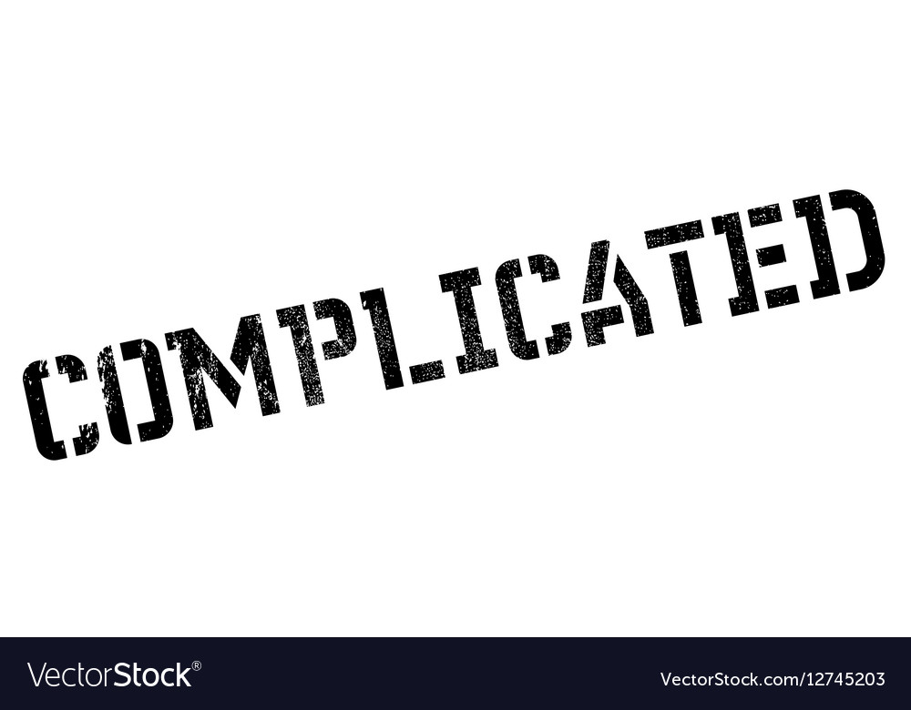 Complicated rubber stamp vector image