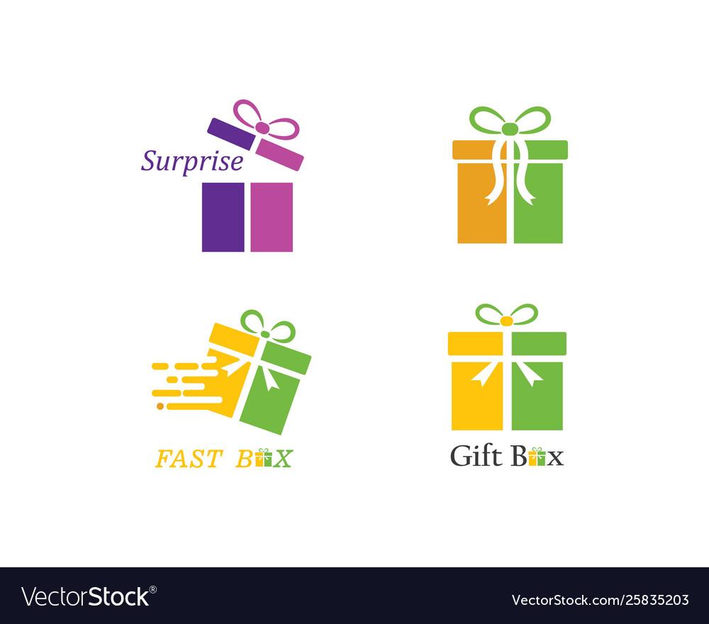 Gift Box Logo Royalty Free Vector Image Vectorstock