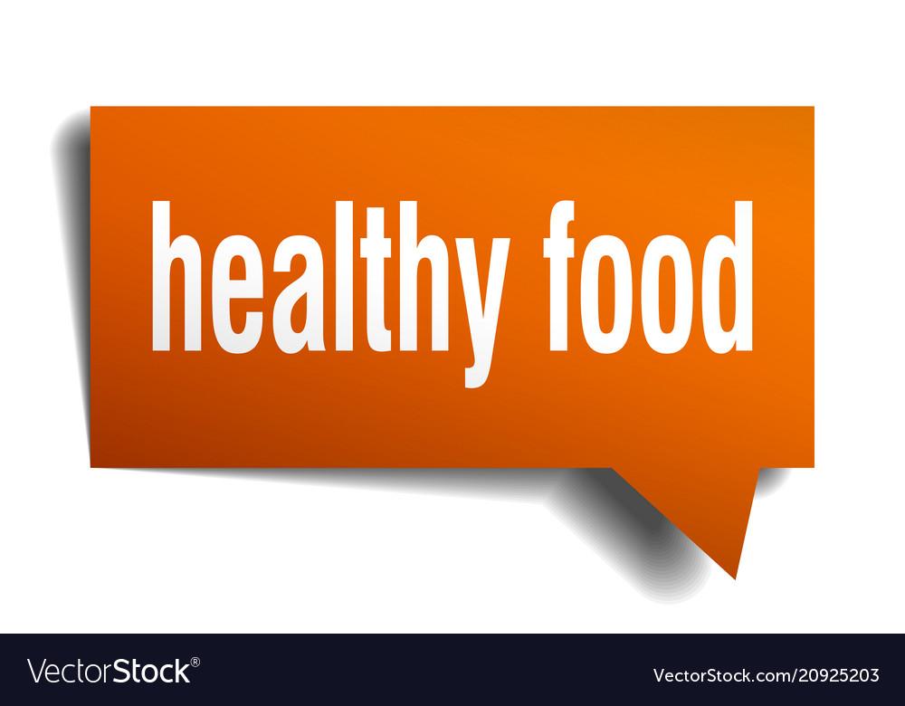 healthy eating speech