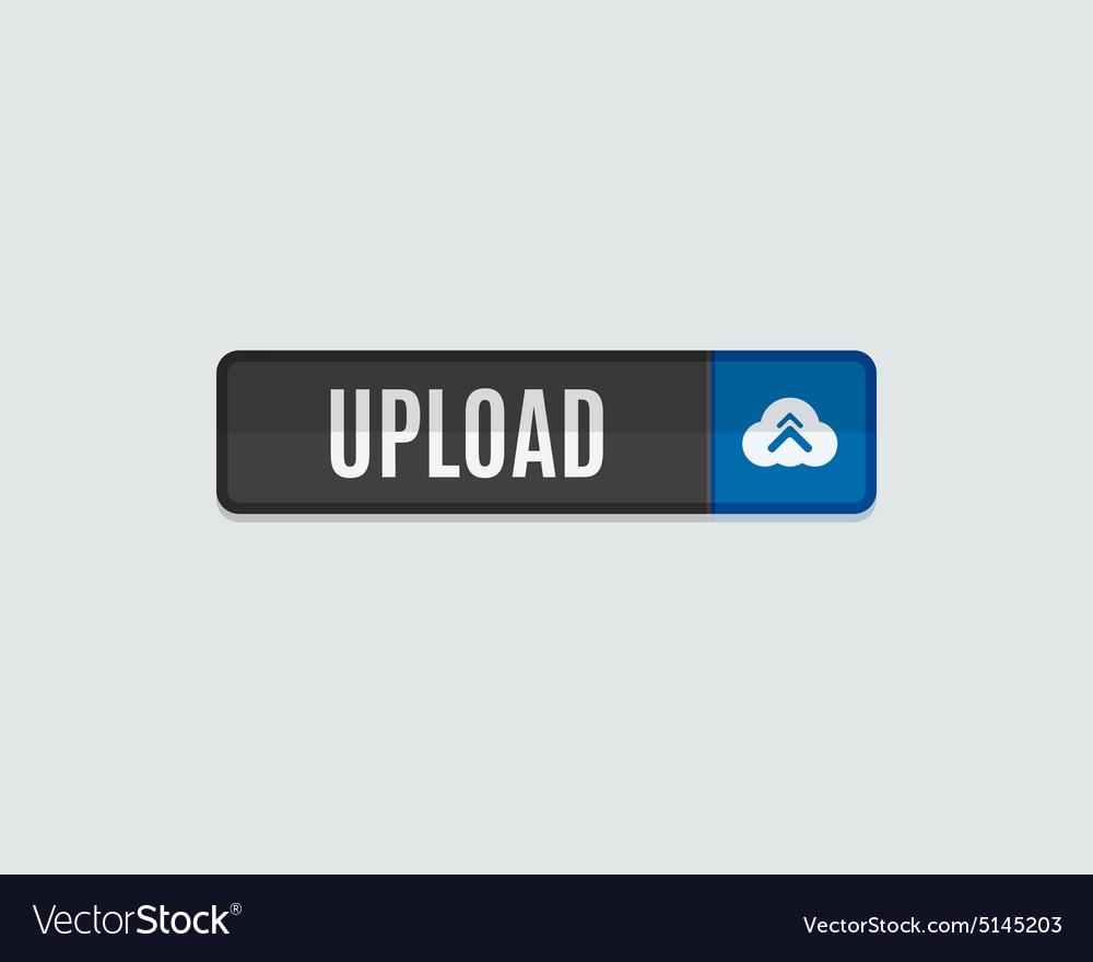 Upload web button flat design vector image