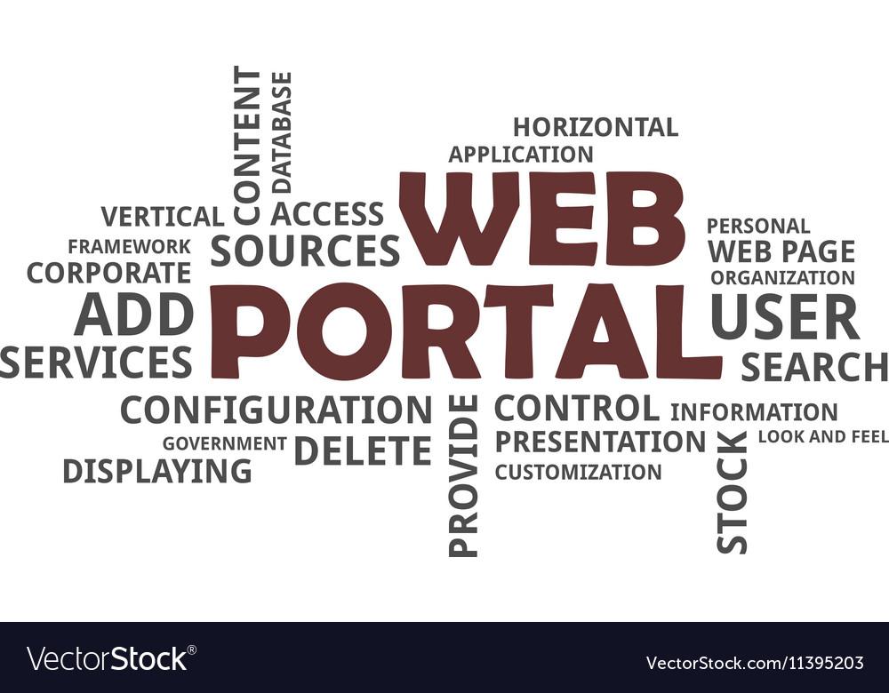 Word cloud web portal