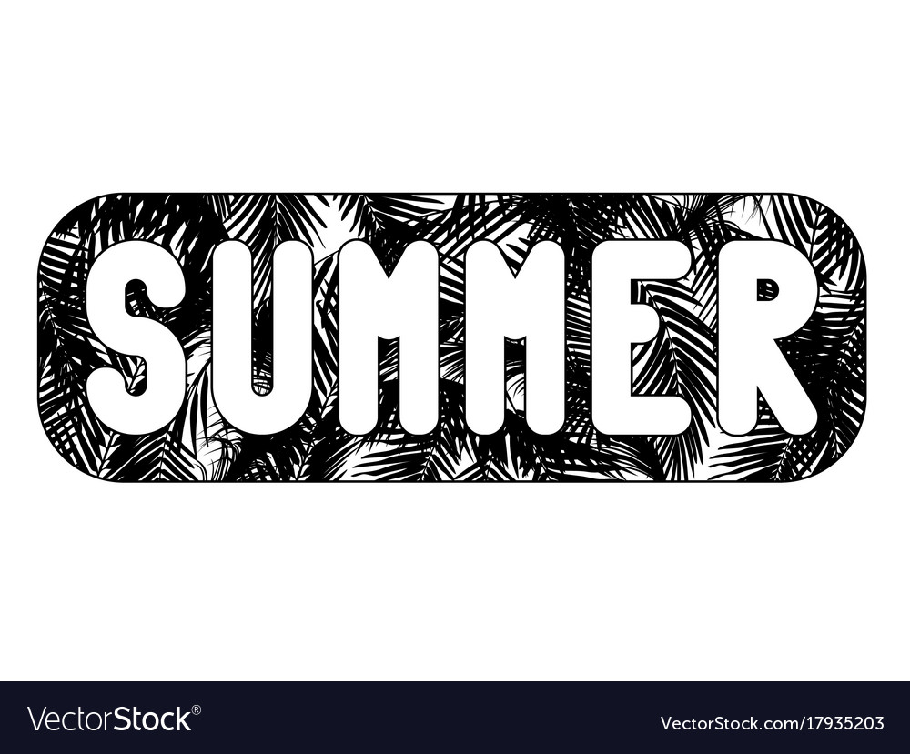 word summer written in white letters in a vector image