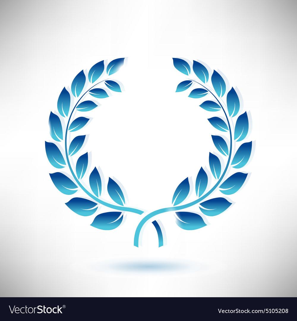 Blue Laurel Wreath