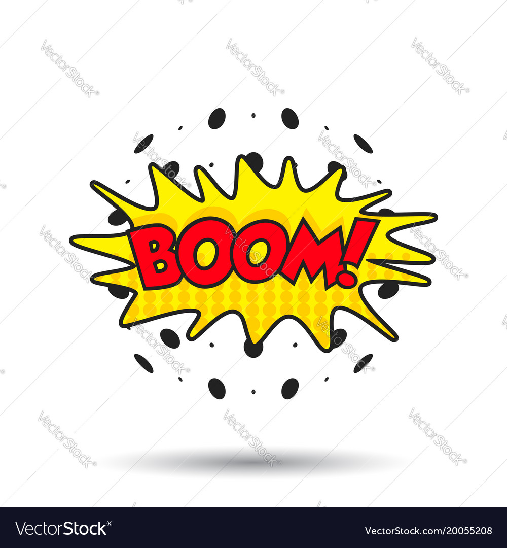 Boom comic sound effects sound bubble speech with vector image on  VectorStock