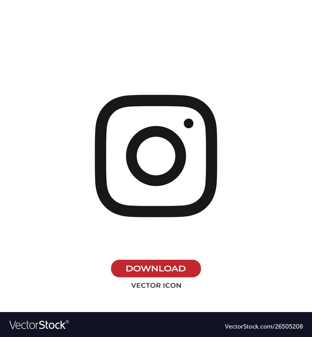 Camera lens icon instagram logo symbol