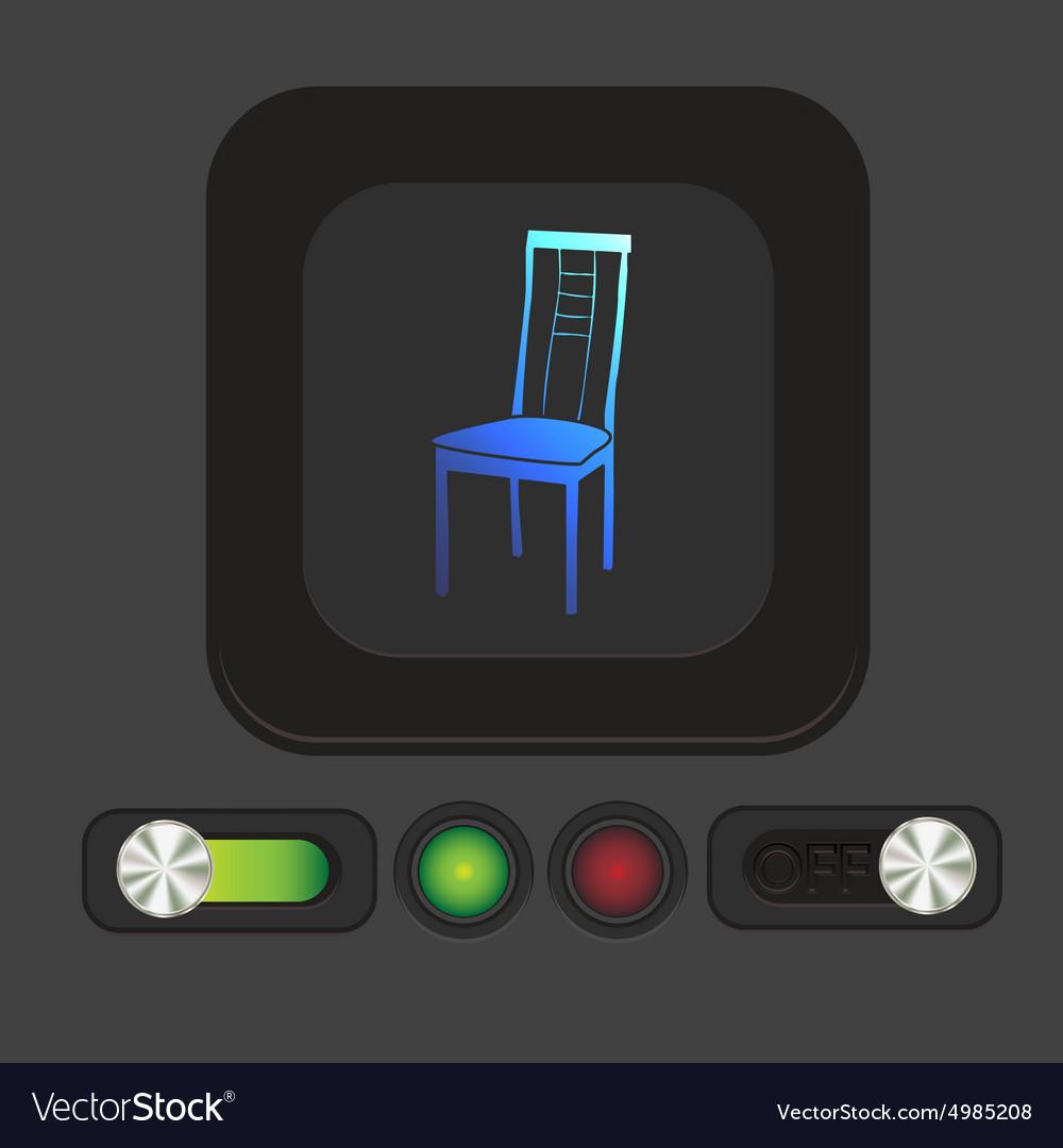 Chair icon symbol furniture icon home interior