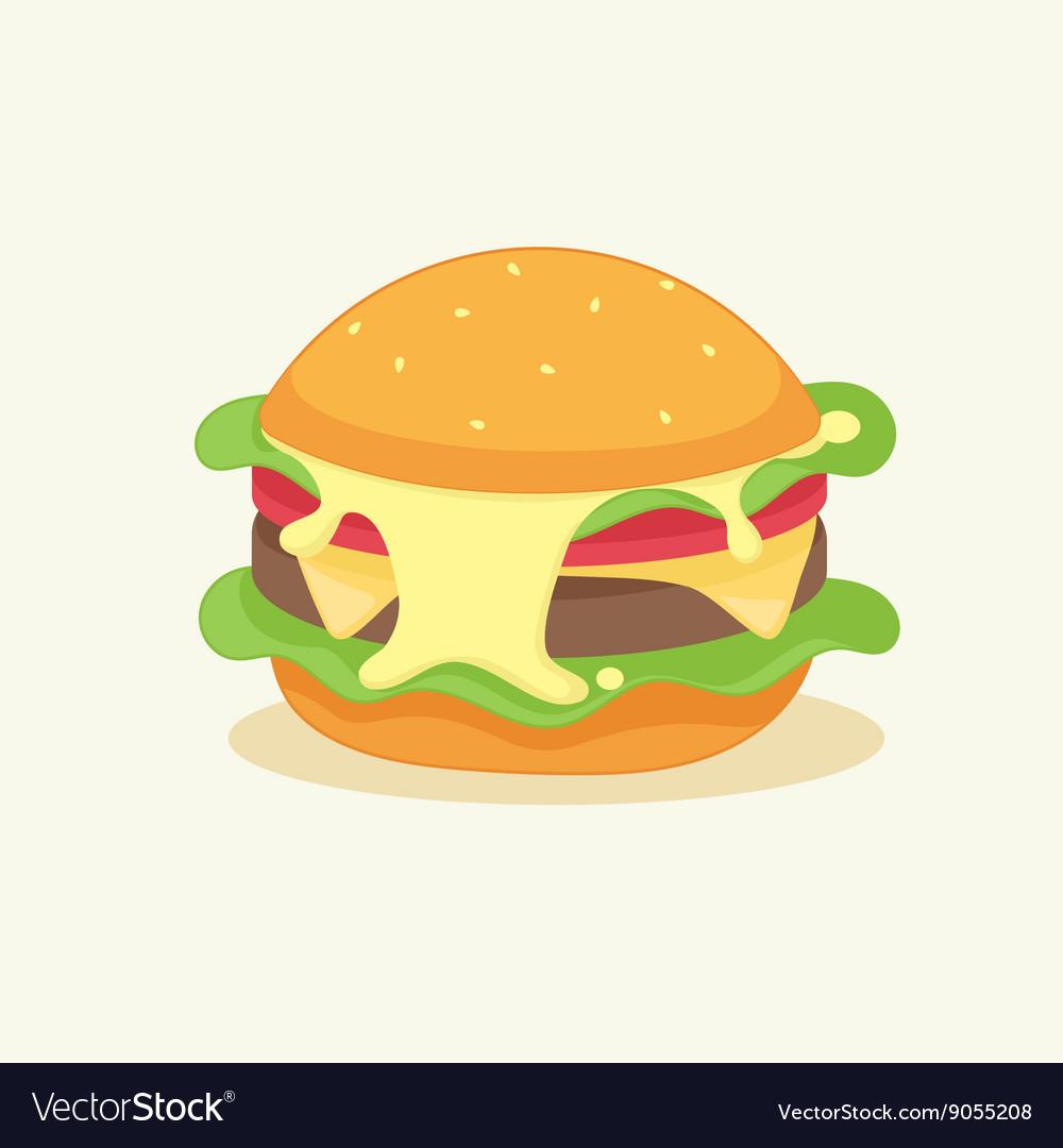 Funny cartoon burger