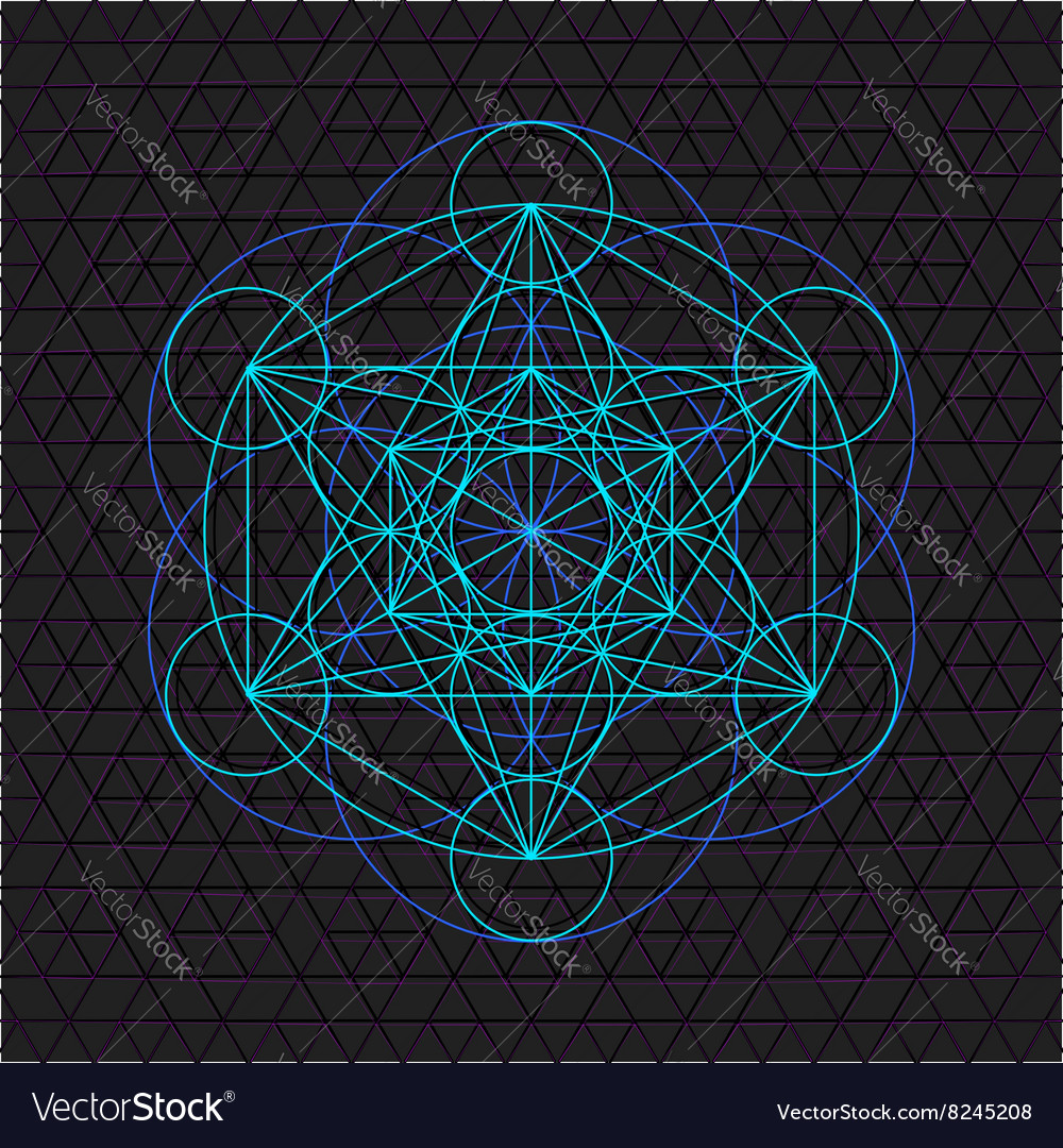 Metatron outline seed of life sacred geometry