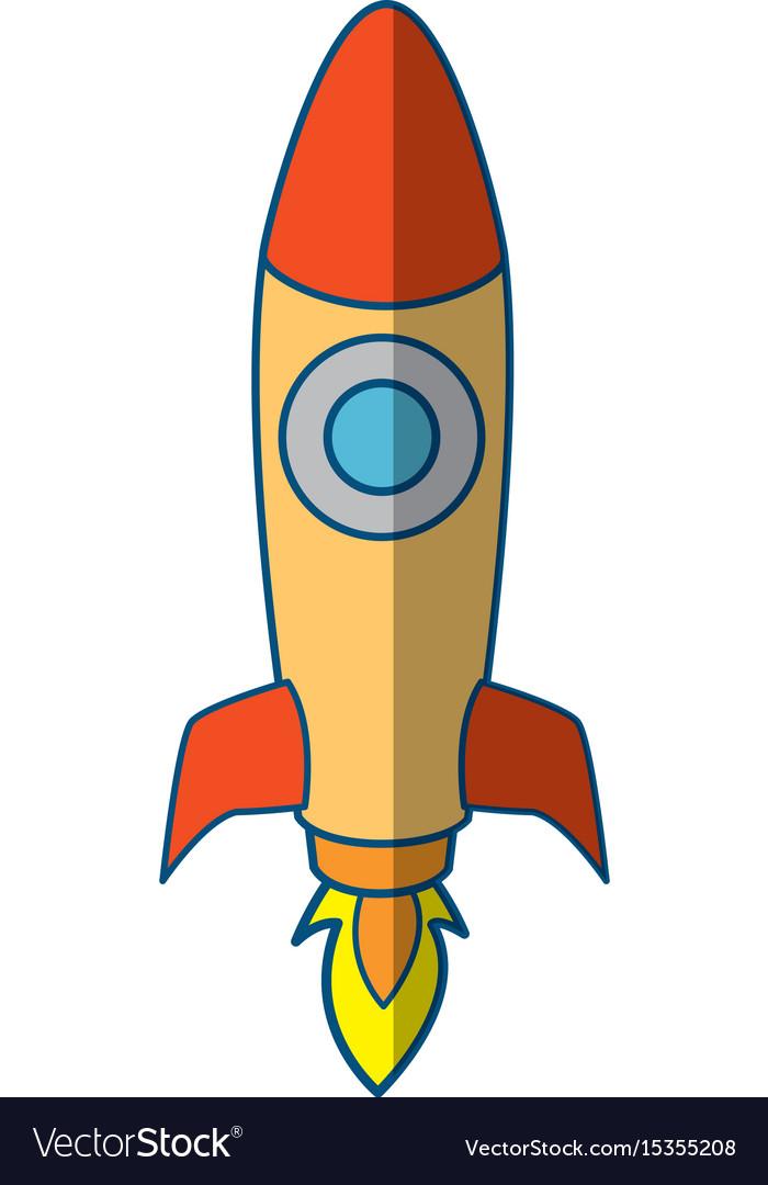 rocket spaceship symbol royalty free vector image rh vectorstock com spaceship vector free download spaceship vector gif
