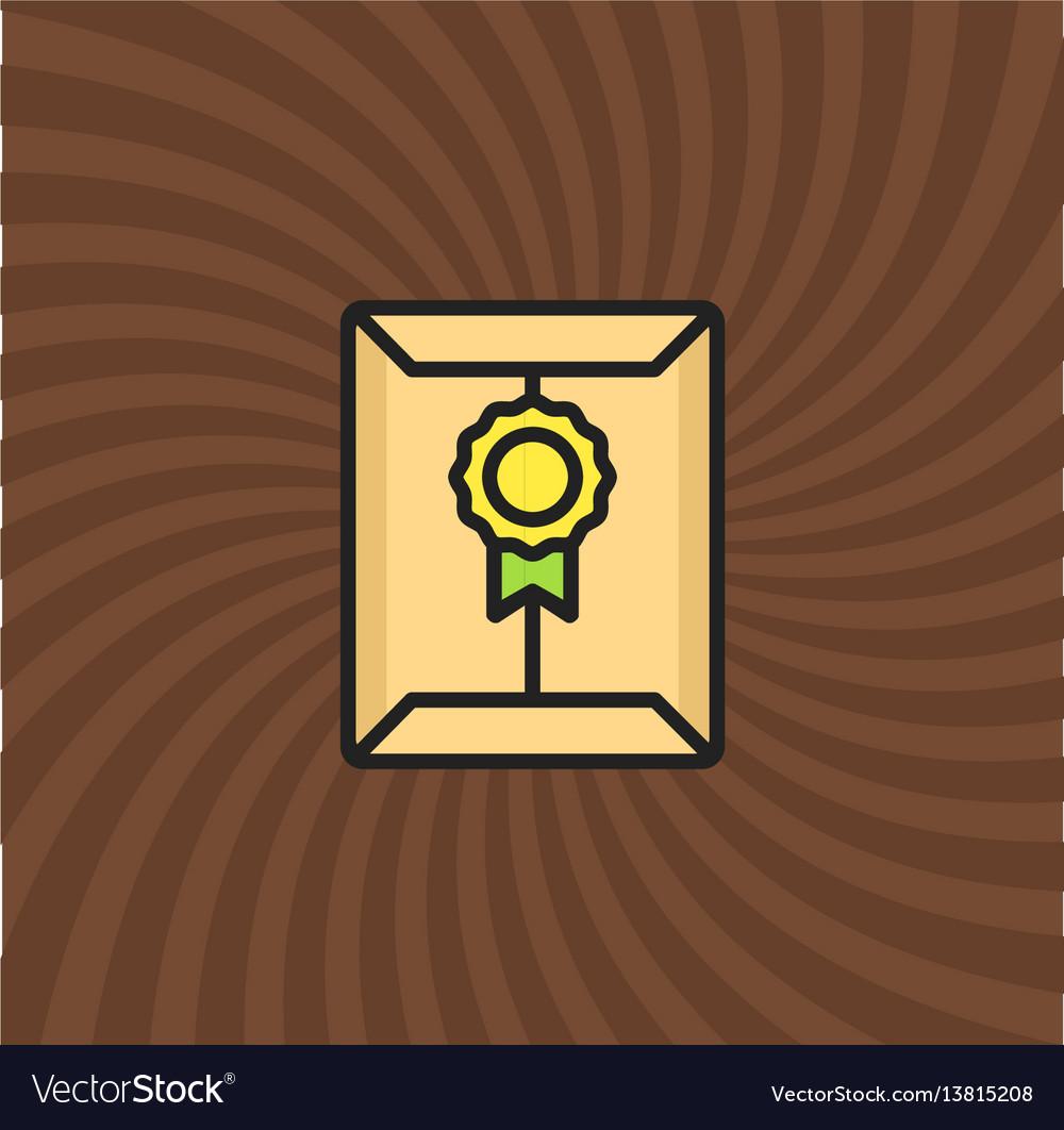 Secret document letter icon simple line cartoon