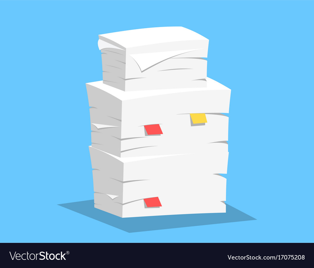 stack of papers royalty free vector image - vectorstock
