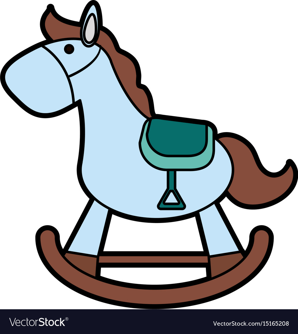 Wood Rocking Horse Baor Shower Related Ico Vector Image