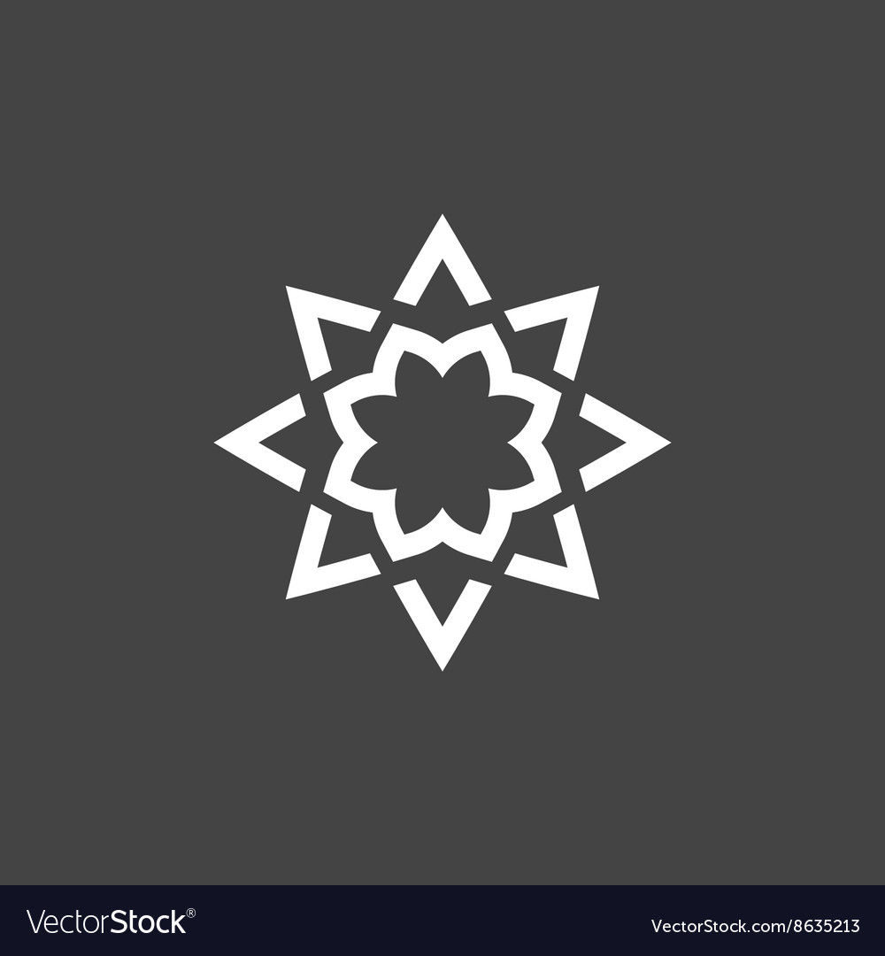 Abstract star logo modern linear style icon vector image