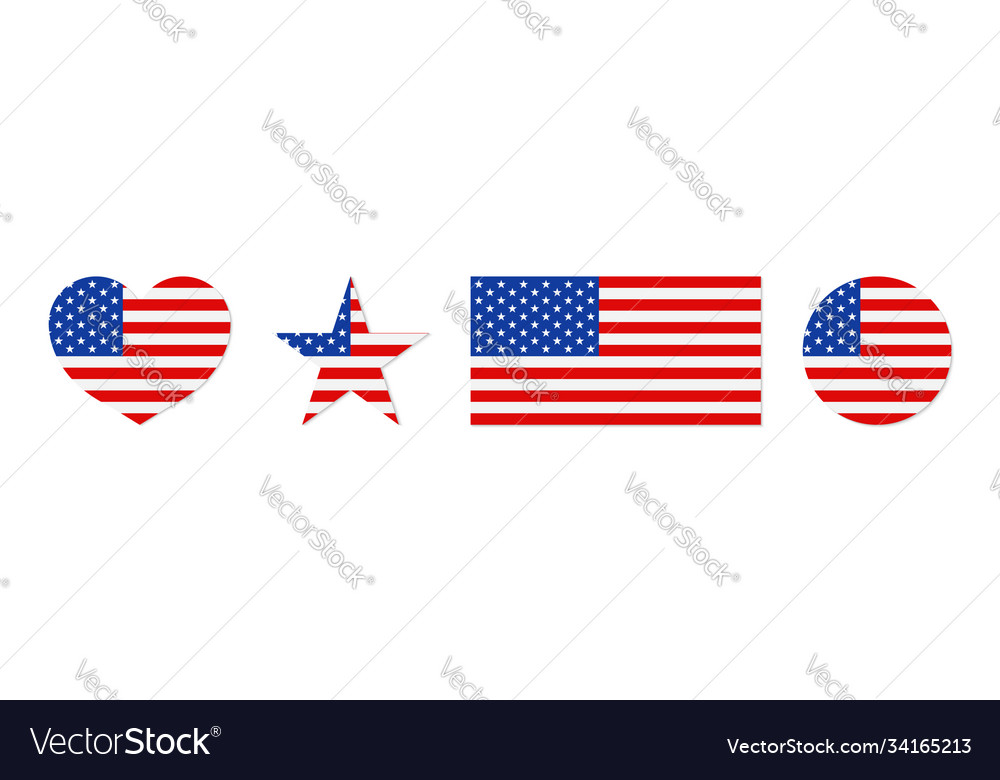 American flag icon usa patriot with star