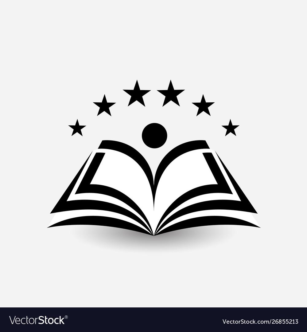 Education logo open book dictionary