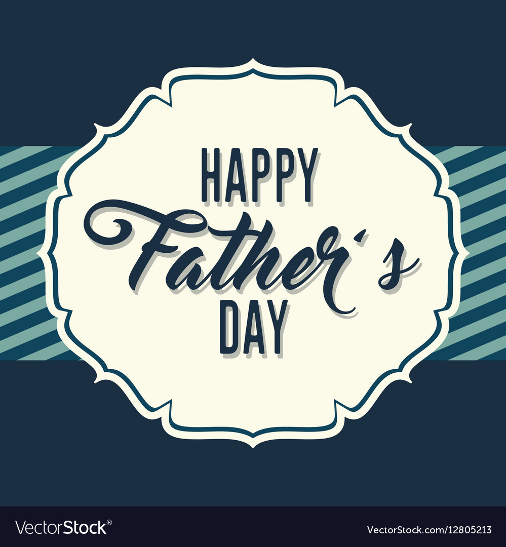 Happy fathers day letters emblem and related icons