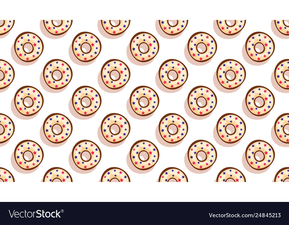Sweet donutscolorful glazed pastries seamless