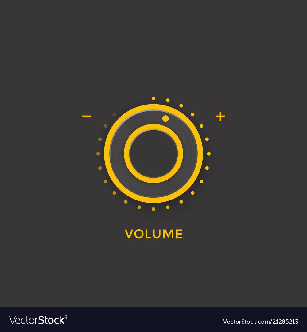 Volume control knob regulator dark version