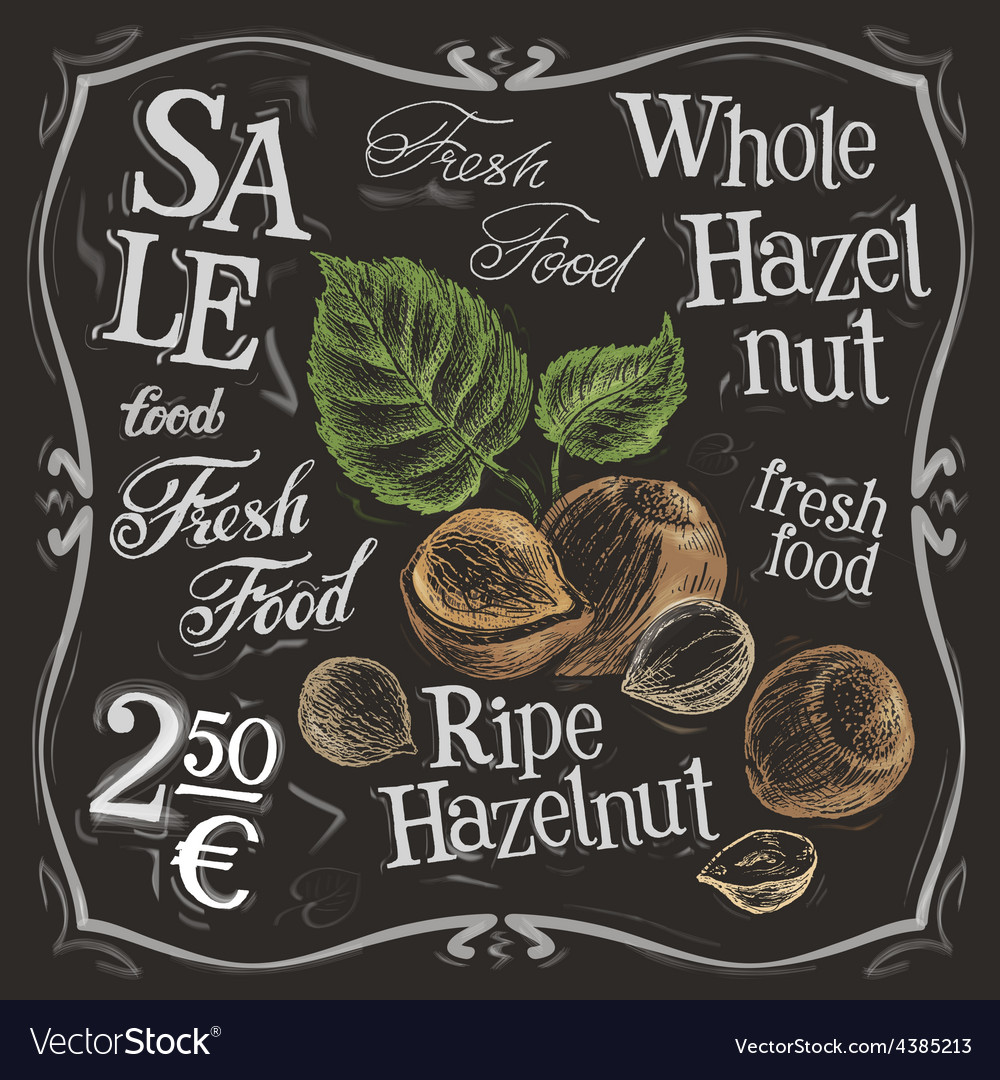 Whole hazelnut logo design template nut