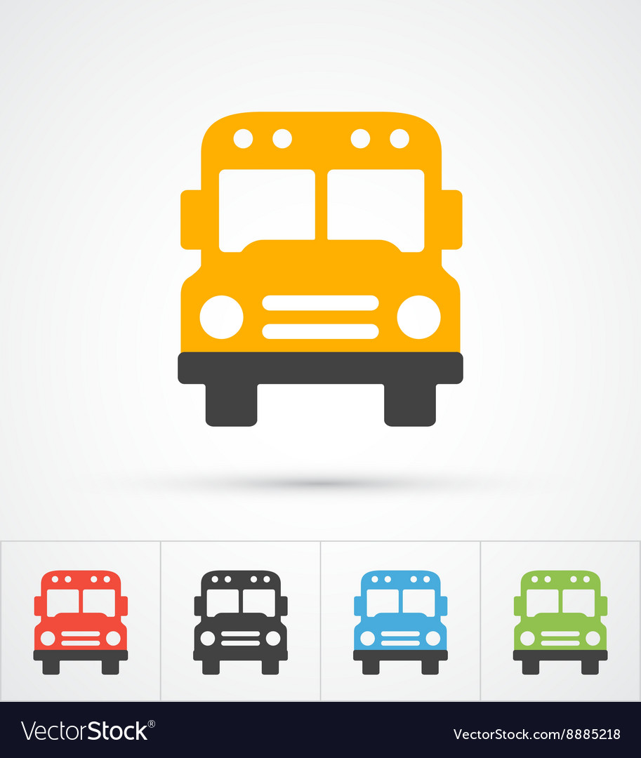 Bus trendy color icons