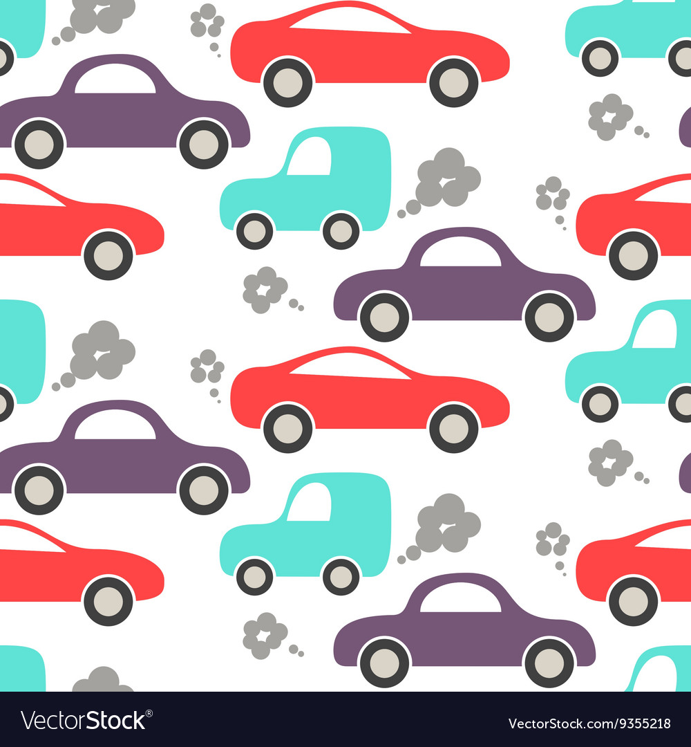 Car cute baby seamless pattern