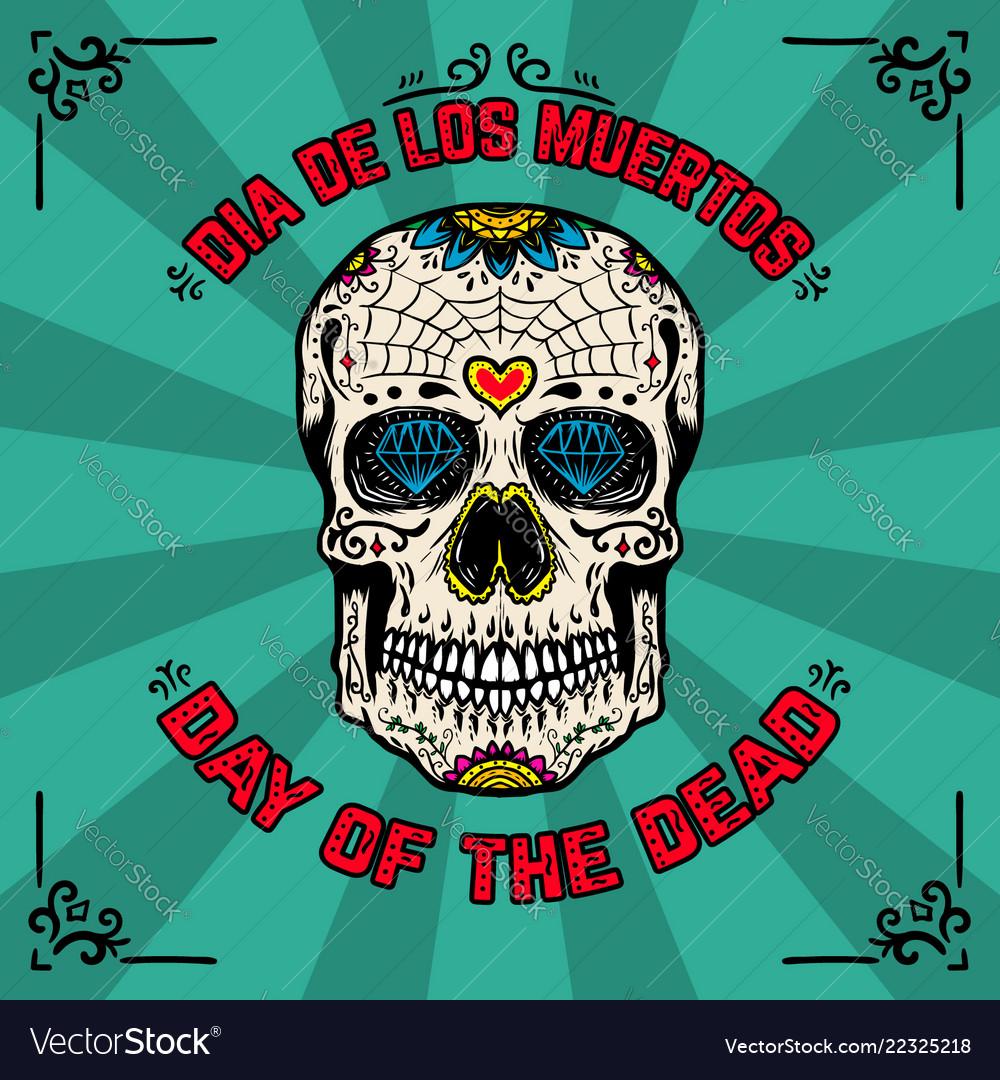 Day of the dead dia de los muertos banner
