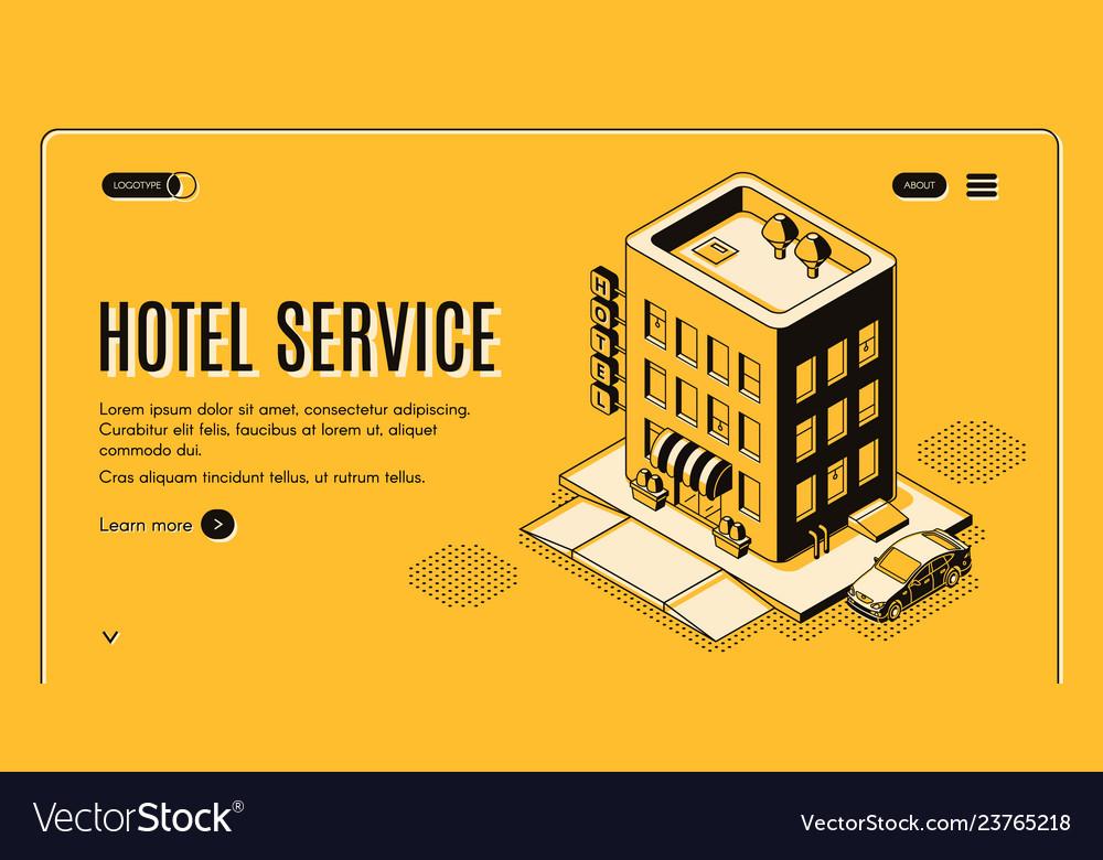 Hotel room booking online service website