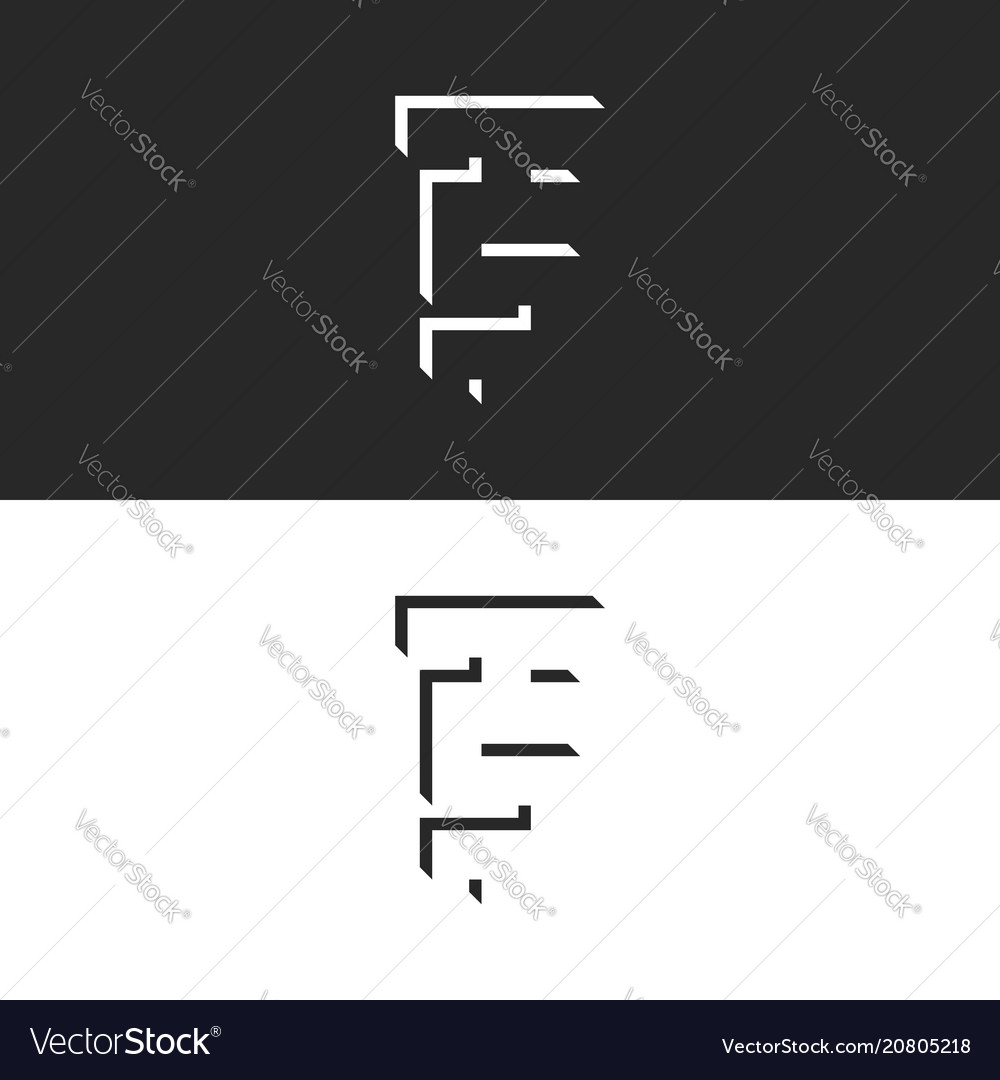 Initials ts isometric letters logo creative st