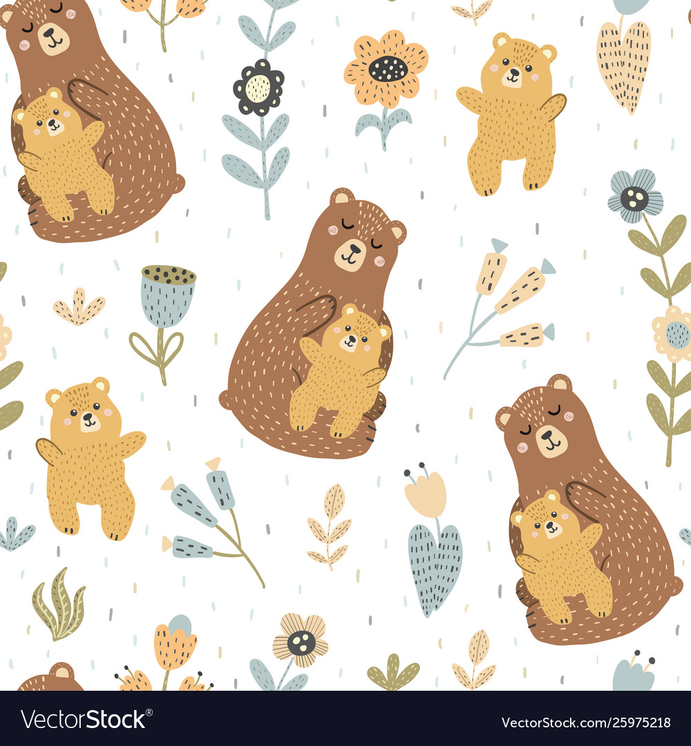 Mother bear with her pattern
