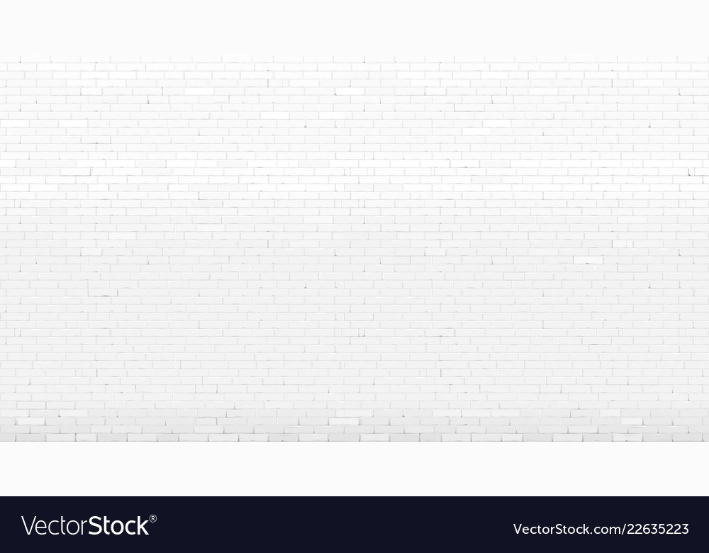 Background Wall Old White Painted Brick Vector Image