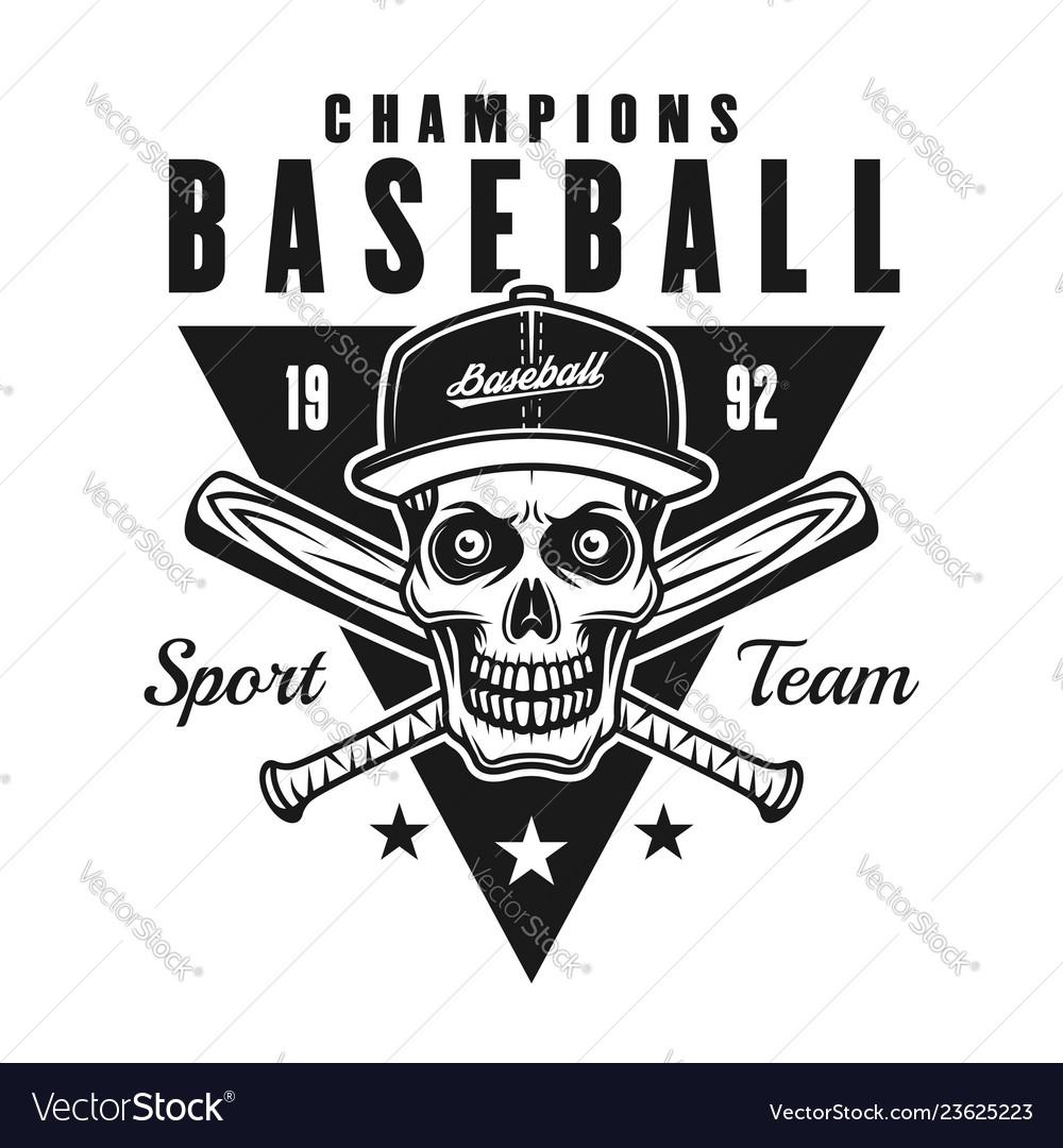 Baseball champions vintage black emblem or badge