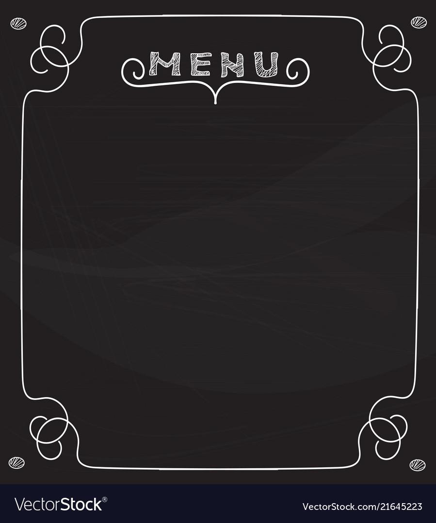 blank chalkboard menu