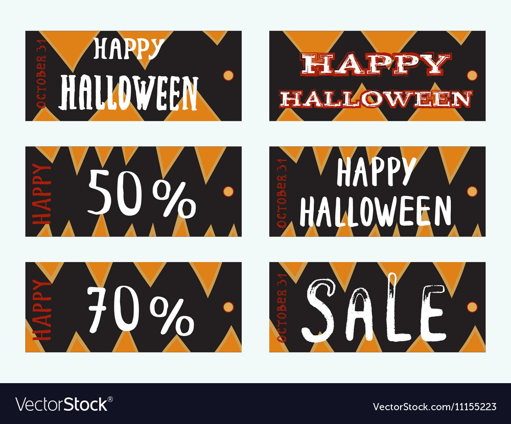 Cute and scary card templates Royalty Free Vector Image