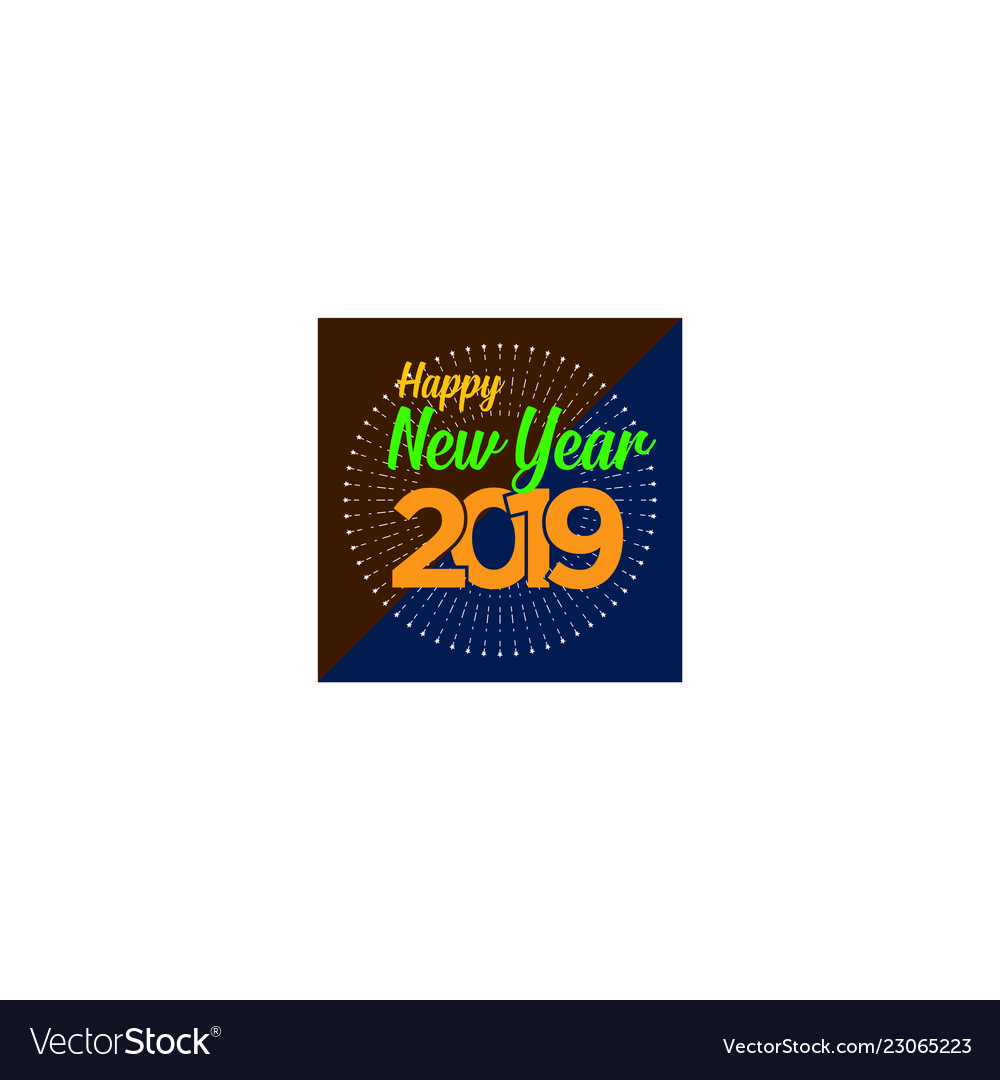Happy new year logo banner