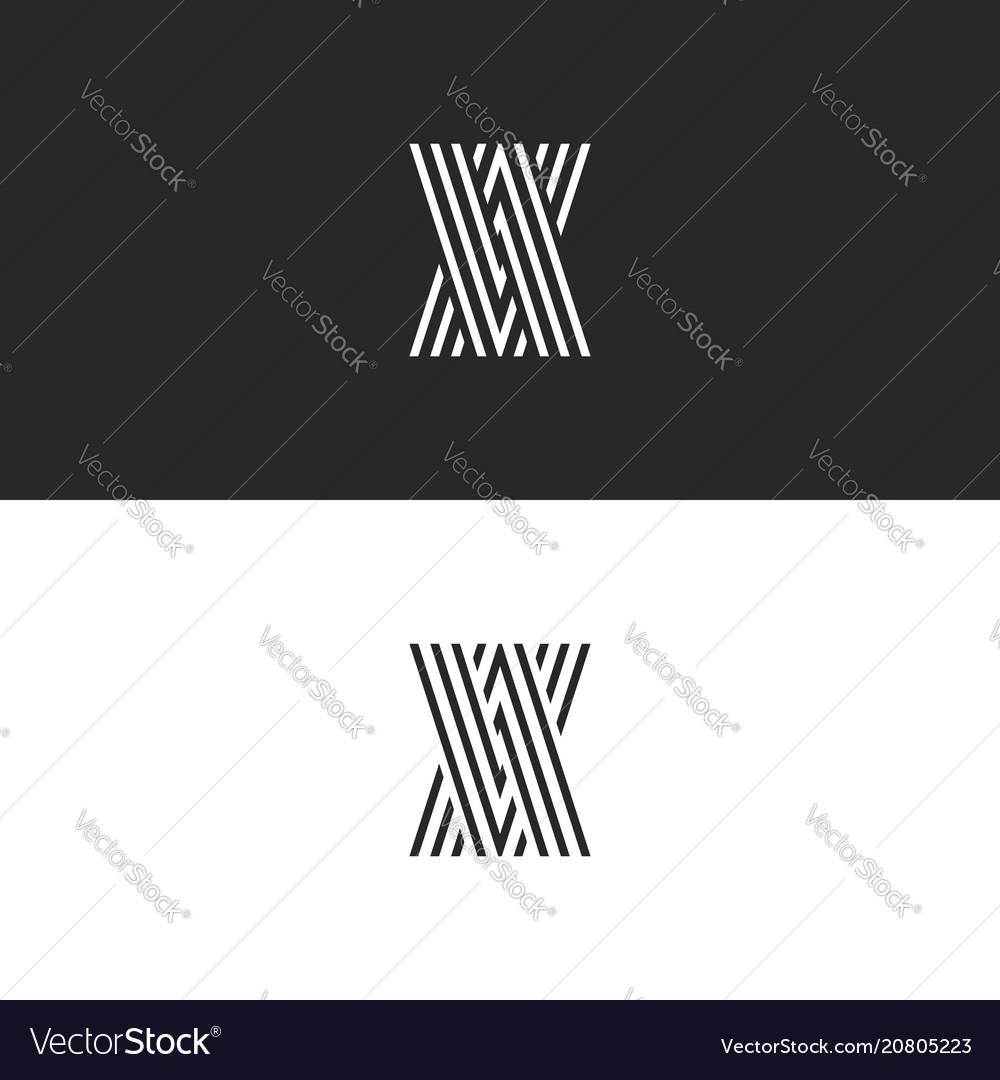 Initials logo va letters monogram overlapping