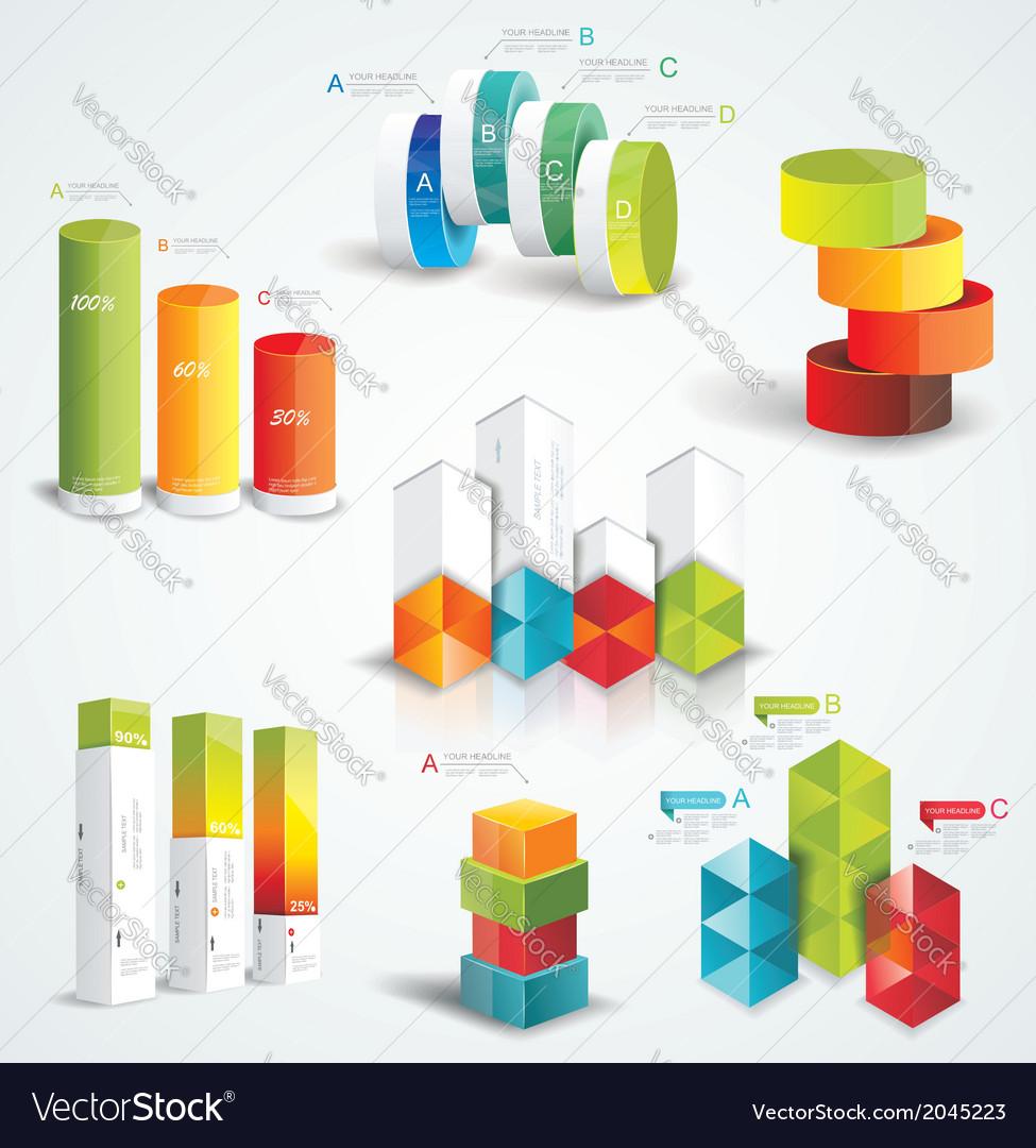 Rich set Infographic Design vector image