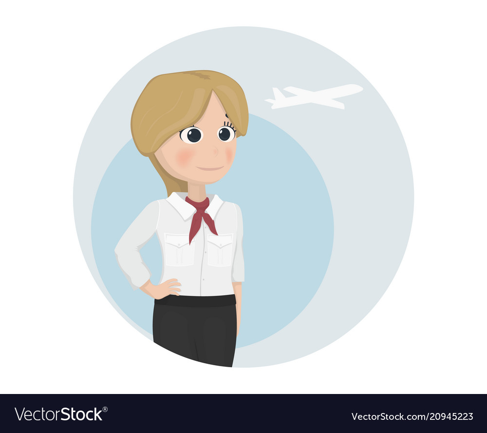 stewardess template cartoon characters royalty free vector