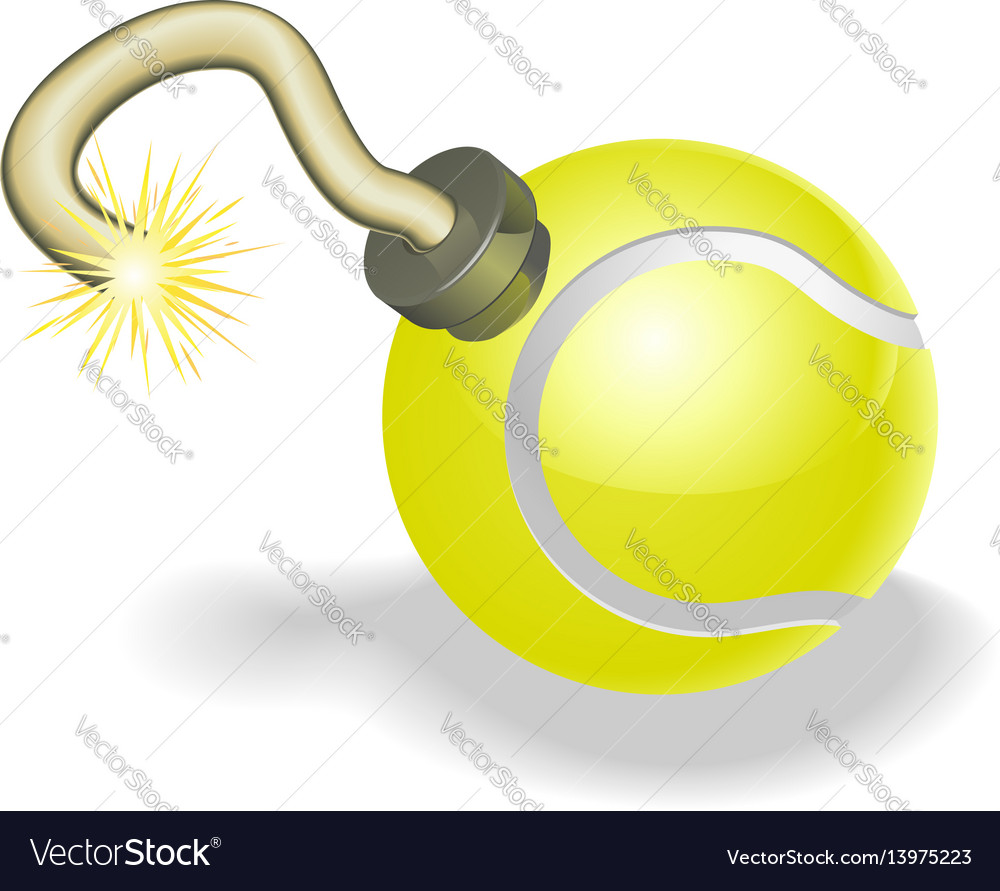 Tennis ball bomb concept vector image