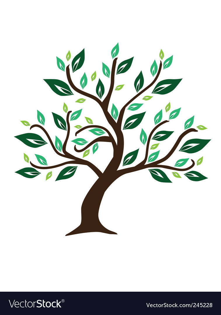 abstract tree royalty free vector image vectorstock rh vectorstock com vector tree gold vector tree with roots