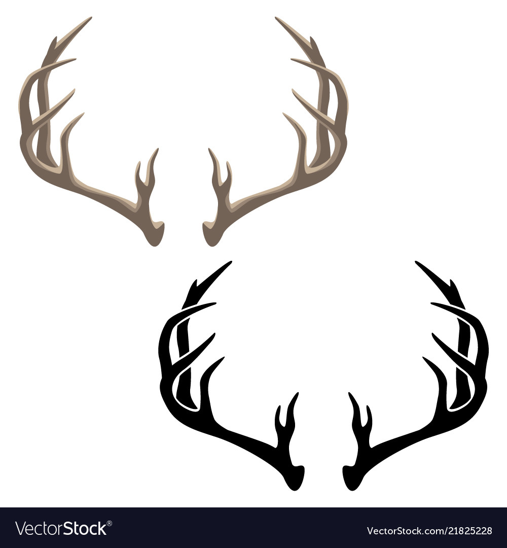 Antler in both color and black