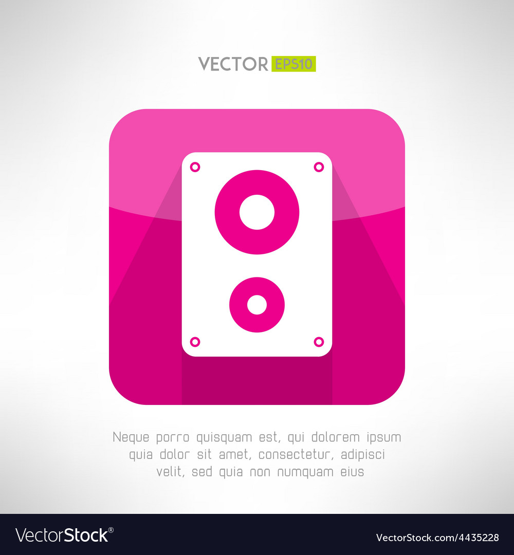 Audio system icon in modern flat design Clean and