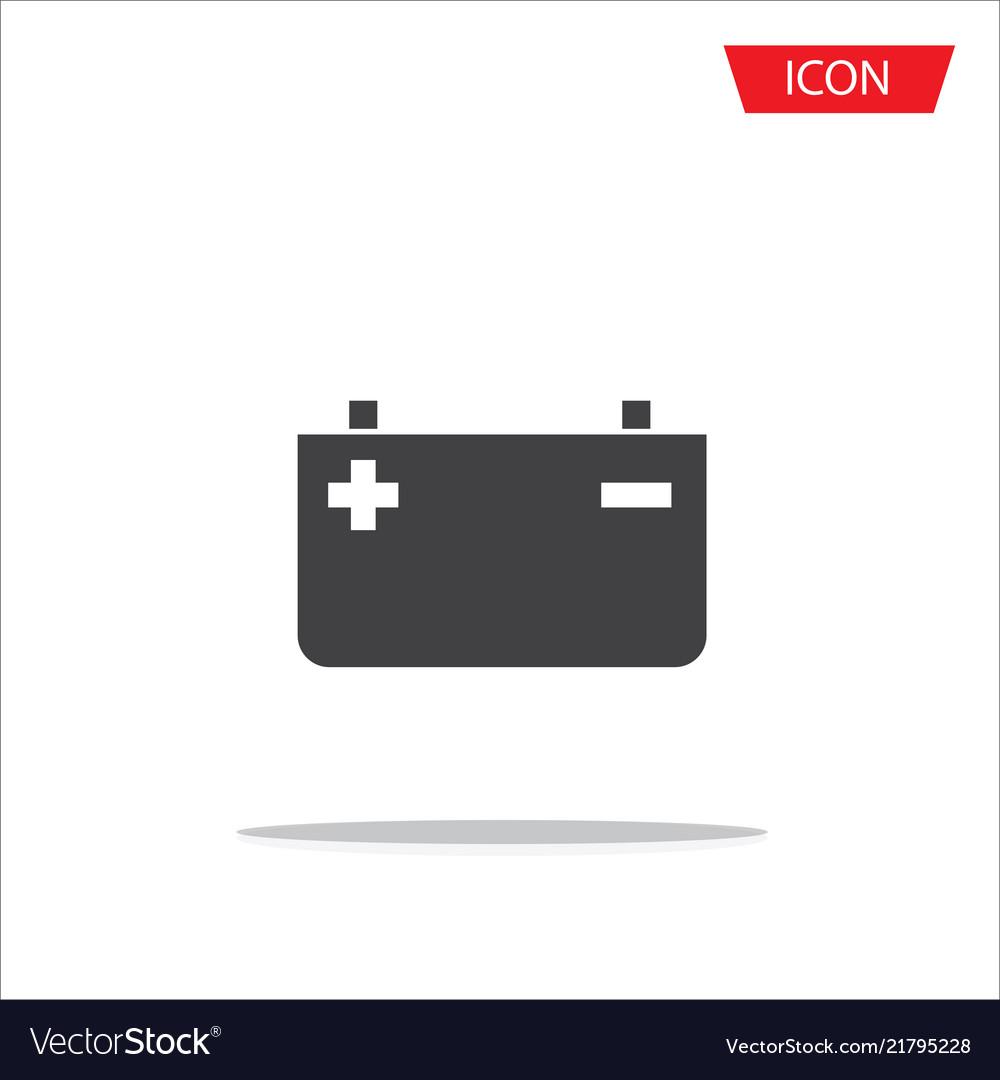 Battery icon isolated on white background