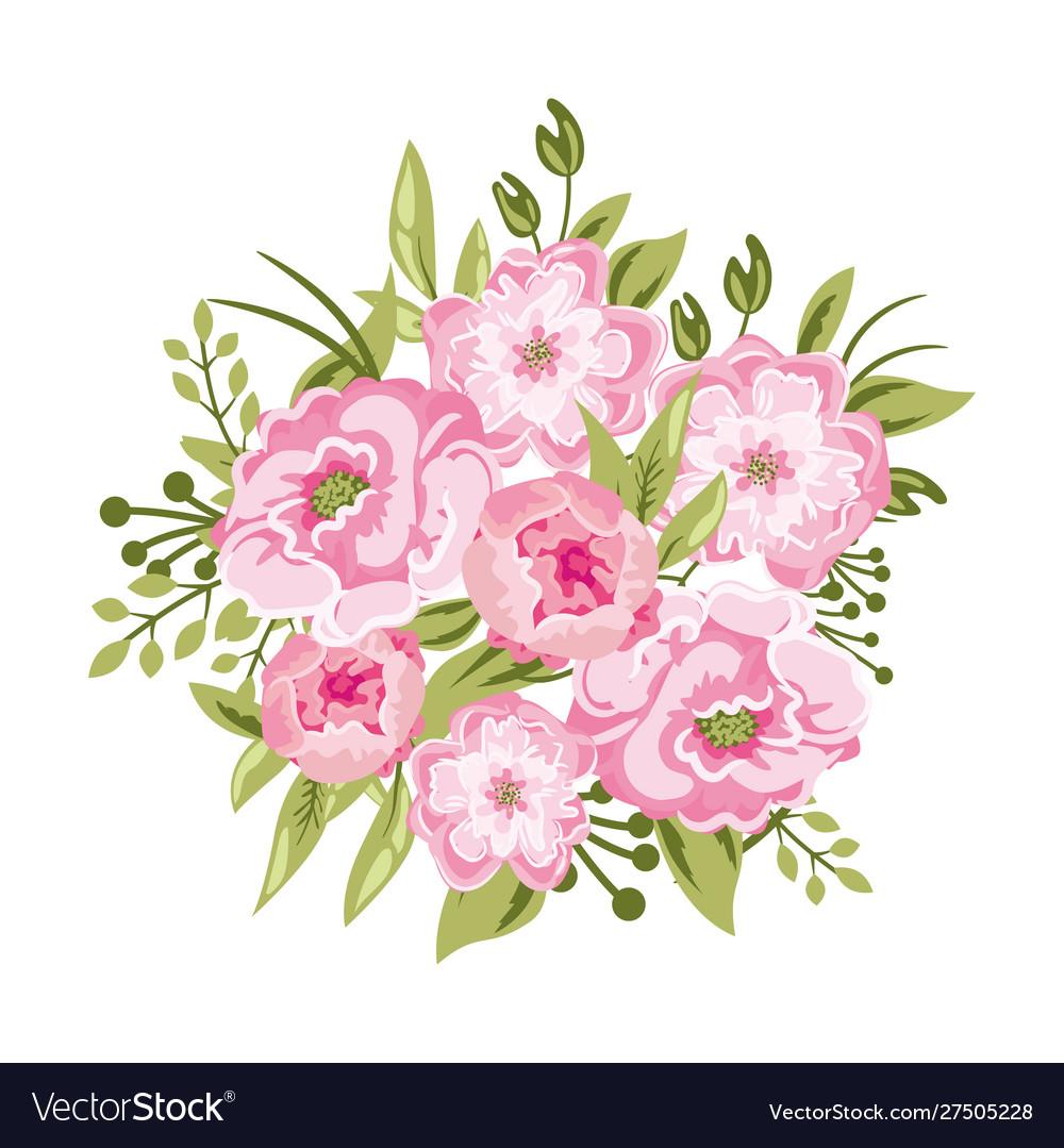 Beautiful peony bouquet rose