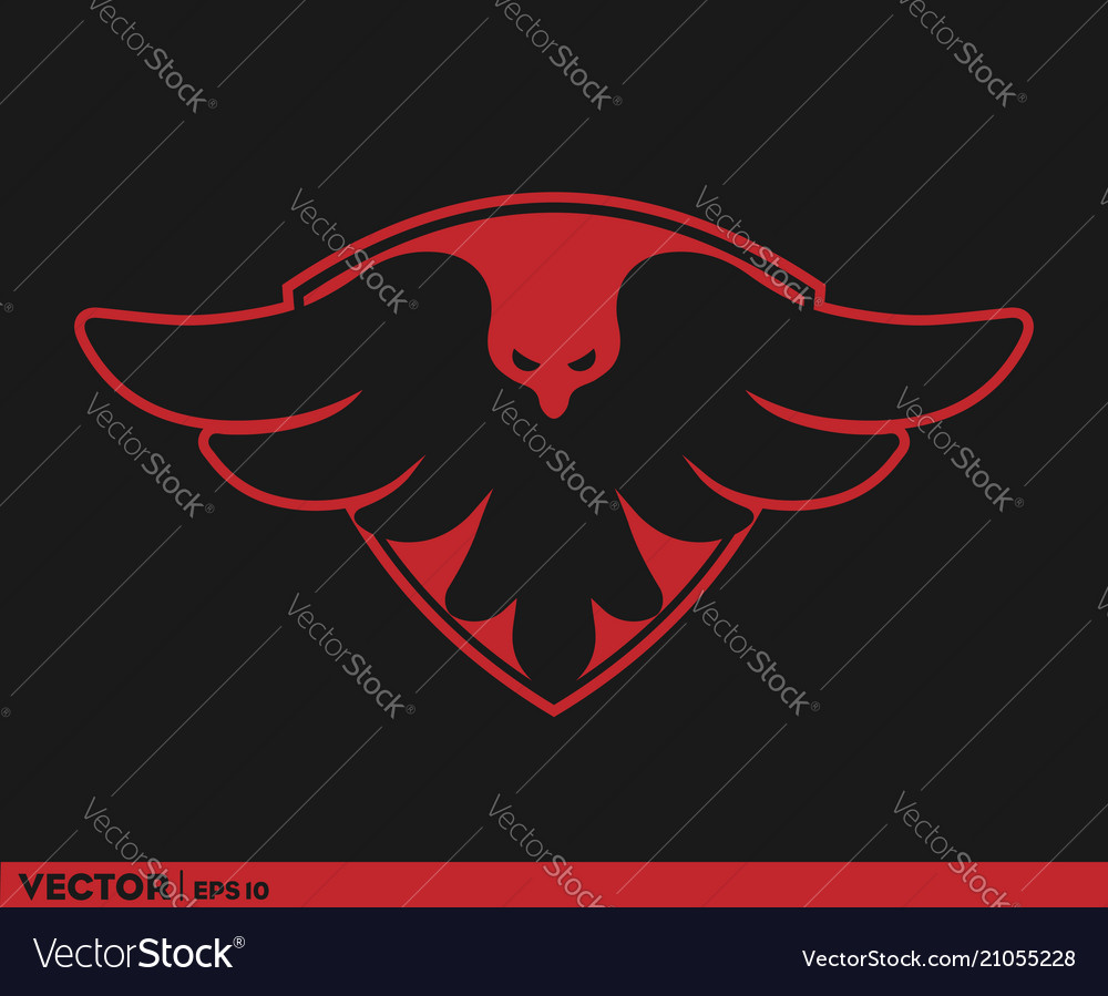 Bird coat of arm logo vector image