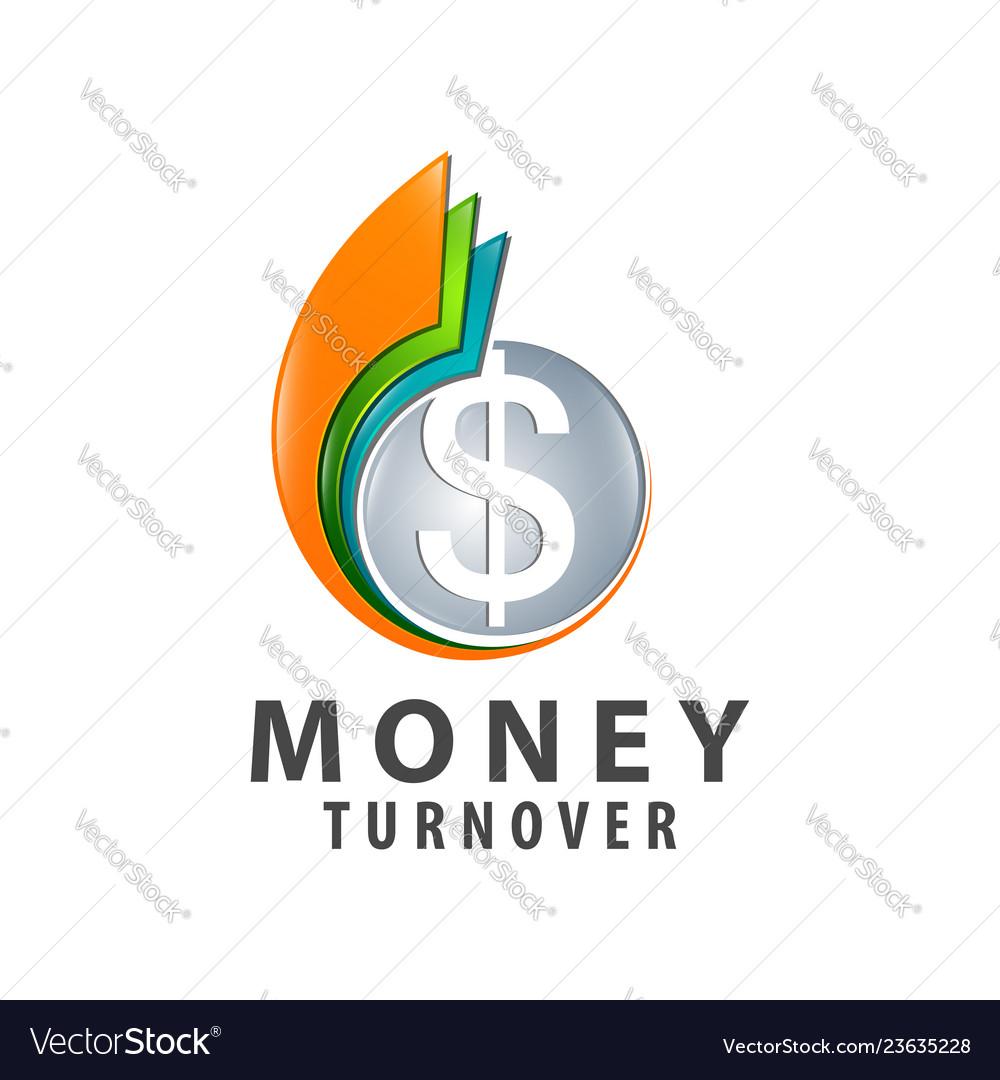 Money turnover colorful logo concept design
