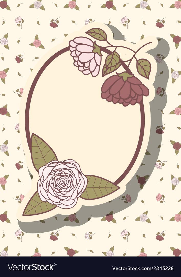 Retro frame with abstract flowers event design