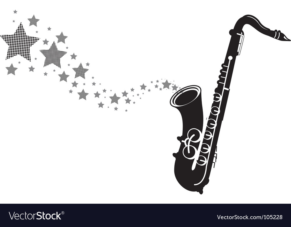 Saxophone stars vector image