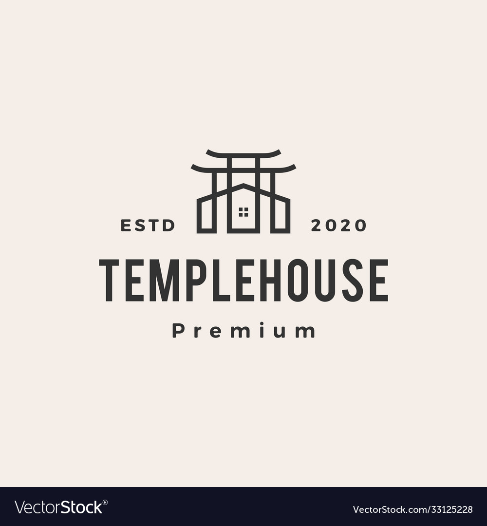 Temple house hipster vintage logo icon